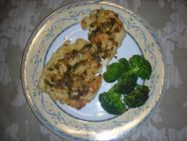 Lemon-Cilantro Chicken Scaloppine (Scallopine or Scallopini). Photo by DeidreJane