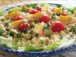 Family Favorite Potato Salad! (German Kartoffelsalat). Photo by BecR