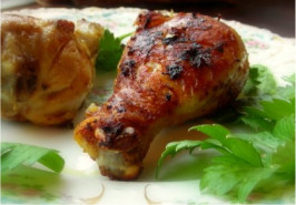 Grilled Curry Chicken Legs. Photo by Andi of Longmeadow Farm