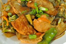 Ginger Plum Chicken Stir Fry. Photo by I'mPat