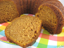 Gluten-Free Pumpkin-Applesauce Bundt Cake. Photo by Kathy at Food.com