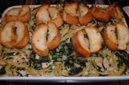 Chicken & Spinach Fettuccine Bake. Photo by NorthwestGal