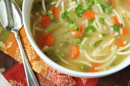 Turkey Noodle Soup. Photo by Delicious as it Looks