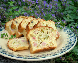 Oooh La La! French Savoury Ham, Cheese and Olive Cake. Photo by French Tart