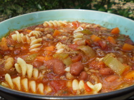 Olive Garden Pasta E Fagioli Soup in a Crock Pot (Copycat). Photo by breezermom