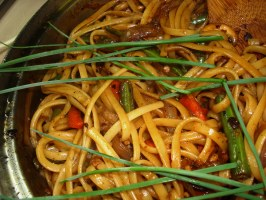 Vegetable Lo Mein. Photo by Karen Elizabeth