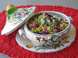 Israeli Couscous Pepper Salad. Photo by FrenchBunny