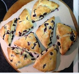 Blueberry Scones (Cook's Illustrated). Photo by Chef #1803070931