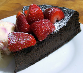 Flourless Chocolate Cake. Photo by Fairy Nuff