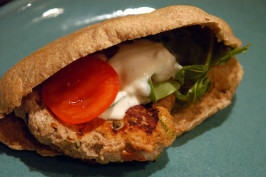 Chicken Pita Burger. Photo by -Sylvie-
