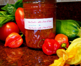 Salsa With  Zucchini With a Hint of Lime. Photo by Rita~