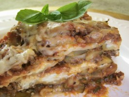 Mile-High Crock Pot Lasagna With Zucchini or Spinach. Photo by BecR