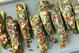 Drop Dead Delicious Stuffed Zucchini. Photo by Delicious as it Looks