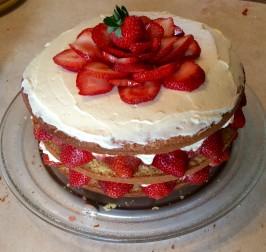 Strawberry Cream Cake - America's Test Kitchen. Photo by Excalabra