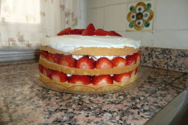 Strawberry Cream Cake - America's Test Kitchen. Photo by MariaLuisa