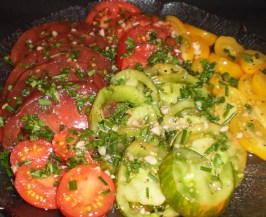 Méli-Mélo:a Muddle and Medley of Heirloom Tomatoes. Photo by Tisme