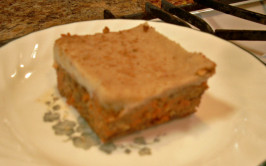 Carrot & Orange Cake With Cashew Cream Icing. Photo by Chef Joey Z.