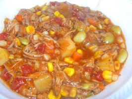 Brunswick Stew Georgia Style ( Chicken & Pork ). Photo by LizDaCook