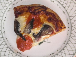 Kate L's Tipsy Mushroom Pepperoni Pizza. Photo by KateL