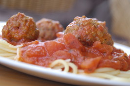 Mama Iuliucci's Famous Meat-A-Balls (Italian Meatballs). Photo by run for your life