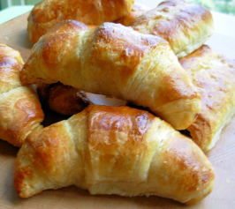 Traditional Buttery French Croissants for Lazy Bistro Breakfasts. Photo by French Tart