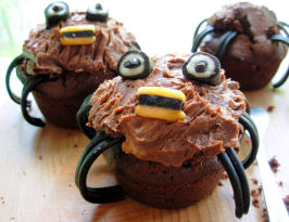 Spooky Spider Cupcakes/Muffins for a Howling Halloween!. Photo by French Tart