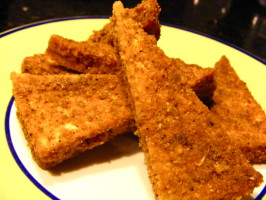 Chile Cornmeal Crusted Tofu. Photo by Kozmic Blues