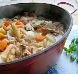 Tasty Chicken & Fennel Soup in a Crock Pot. Photo by French Tart