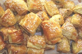 Chicken and Ricotta Sausage Rolls. Photo by Karen Elizabeth