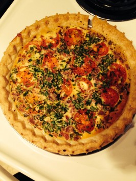 Spinach, Tomato and Feta Quiche. Photo by Chef #1802942006