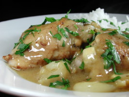Chicken Thighs With Lemon Garlic. Photo by Chef floWer