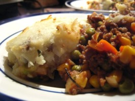 Vegan Shepherd's Pie. Photo by tendollarwine