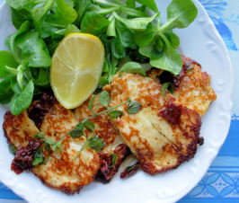 Oregano & Chilli Haloumi / Hellim. Photo by French Tart