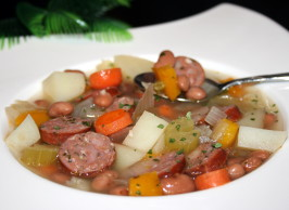 Bean Soup With Sausage and More - Southwest Flavors - Nutritious. Photo by **Tinkerbell**