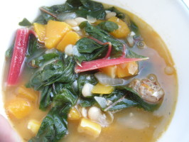 Italian Butternut Squash and White Bean Soup With Greens. Photo by Teddy's Mommy