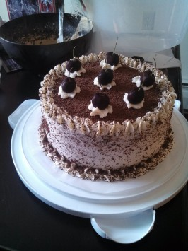Authentic Black Forest Cake (Schwarzwald Kirsch Kuchen). Photo by Chef #1803031595