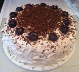 Authentic Black Forest Cake (Schwarzwald Kirsch Kuchen). Photo by Chef #1359631