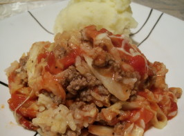 Easy Cabbage Casserole - Tastes Like Cabbage Rolls. Photo by Crafty Lady 13