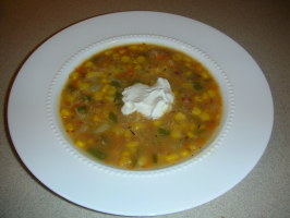 Corn and Potato Chowder for Masako. Photo by Roswell's Test Kitchen