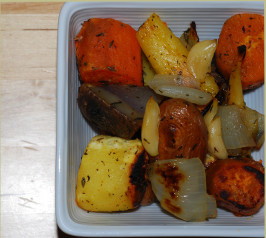 Rootin' Tootin' Roasted Roots - Roasted Root Vegetables in Paper. Photo by Katzen
