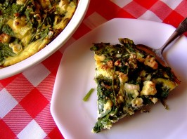Very Rustic Spinach and Feta Tart. Photo by Zurie