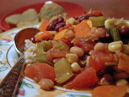 Nif's Vegetable Chili. Photo by justcallmetoni