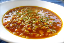 White Bean and Rosemary Soup. Photo by PaulaG