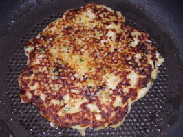 Sour Cream and Chive Potato Pancakes. Photo by Lalaloula
