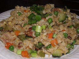 Brown Fried Rice - Five Treasure. Photo by Marlo2268