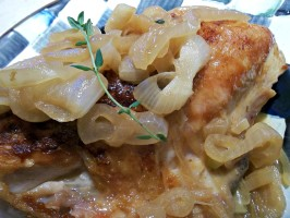 Pan-Roasted Chicken Breasts With Onion and Ale Sauce. Photo by FLKeysJen