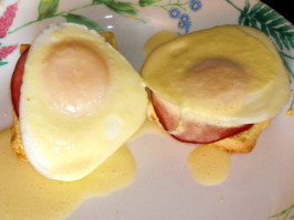 Orange Eggs Benedict. Photo by KateL