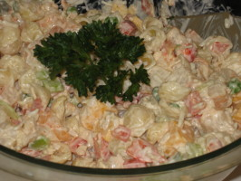 Kittencal's Seafood Pasta Salad. Photo by FrenchBunny