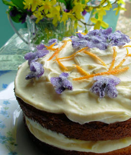Victorian Spring Posy Cake for Easter or Mother's Day. Photo by French Tart