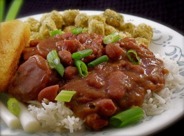 Awesome Red Beans and Rice. Photo by PaulaG